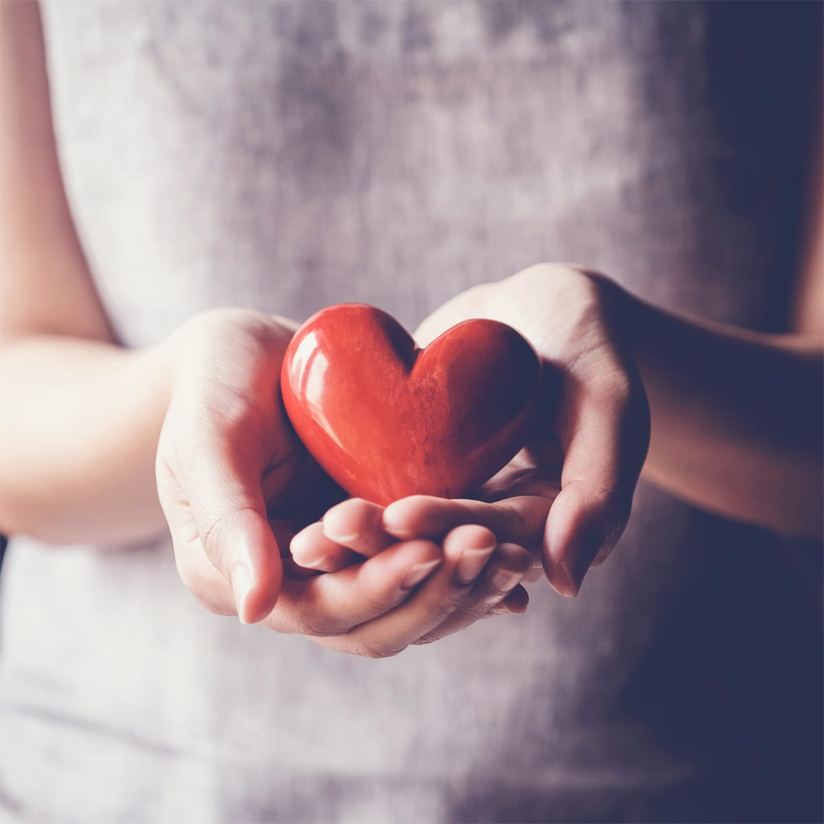 zest for life person holding heart in hands