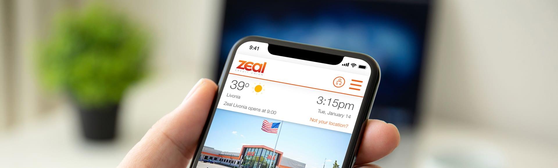 Zeal Website screenshot on iPhone X
