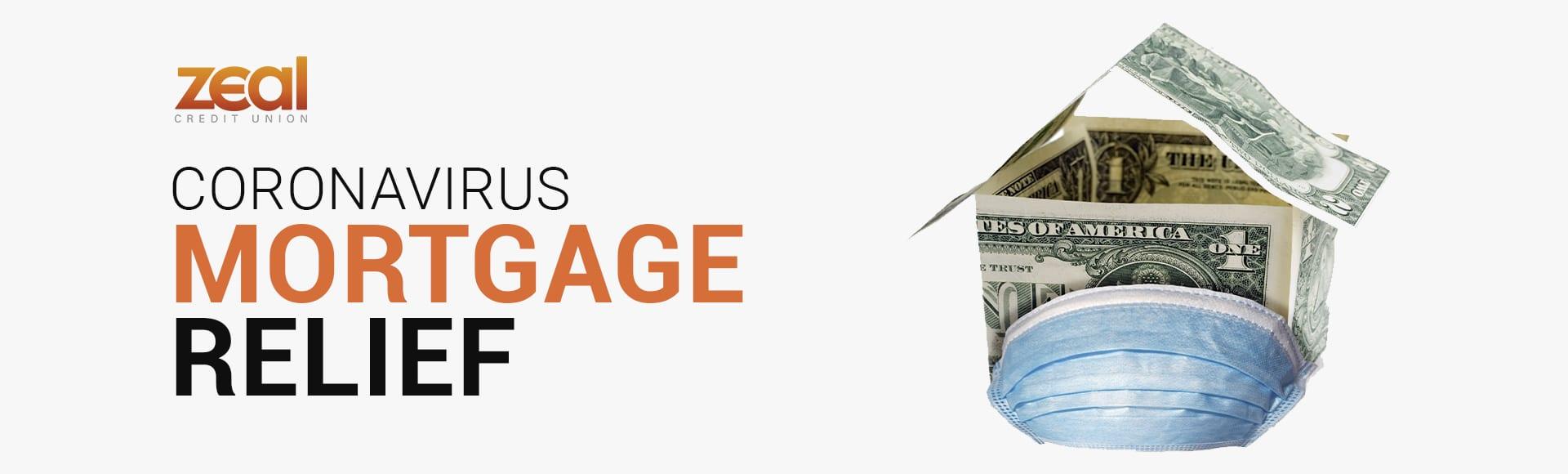 coronavirus mask covering house made of dollar bills