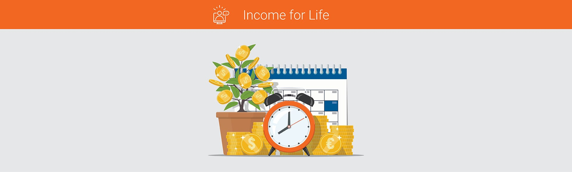 Business financial concept time is money. Coins, alarm clock, money tree and calendar. Investment, financial planning, payment deadline, time management.