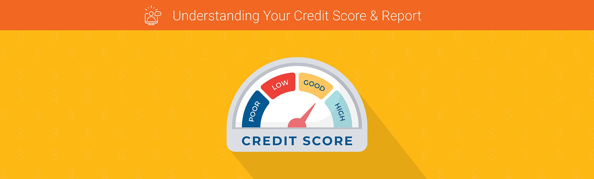 Credit Score icon. Flat design style modern vector illustration. Isolated on stylish color background.